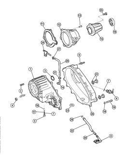 Seal Rear Output Shaft Seal Chrysler Dodge Eagle Jeep 96 02 Mopar 04746258