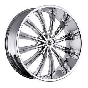 26 inch Strada Corona Chrome Wheels Rims 5x120 BMW 5 6 7 Series Range Rover