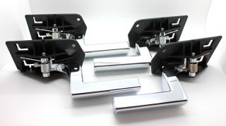New Chrome Inside Interior Door Handle 4 Piece Set for 2003 2009 Hummer H2