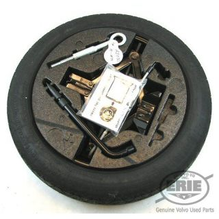 Volvo Continental 125x80 R17 Spare Wheel Tire Combo Jack Tools for XC70 08 13