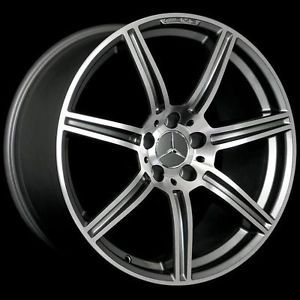 """19"""" AMG Style Staggered Wheels 5x112 Rim Fits Mercedes Benz E63 AMG 2007 2009"""