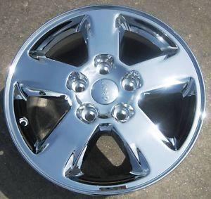 "Exchange Stock 4 2011 12 17"" Factory Jeep Grand Cherokee Chrome Wheels Rims"