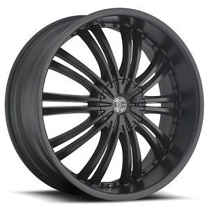 "18"" 2CRAVE No1 Satin Black Wheels Tires Fit Nissan Toyota Kia Ford Chevy Honda"