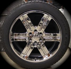 "New Chevy Silverado Tahoe Suburban Avalanche Chrome 22"" Wheels Rims Tires CK919"
