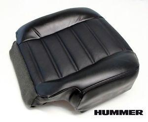 2005 Hummer H2 Chrome Wheels Rims SUT Driver Bottom Leather Seat Cover Black