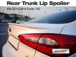 Rear Trunk Lip Spoiler Painted for Kia 2013 2014 Forte Cerato K3