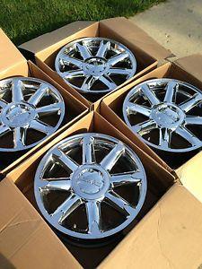 "Four 2007 13 GMC Yukon Denali Sierra Factory 20"" Wheels Rims"