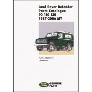Land Rover Defender 90 110 130 Parts Catalogue 1987 2006 My