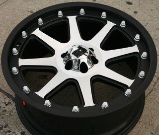 KMC XD Series Addict 20 x 9 0 Black Rims Wheels Dodge Dakota 6 Lug 97 04 6H 18