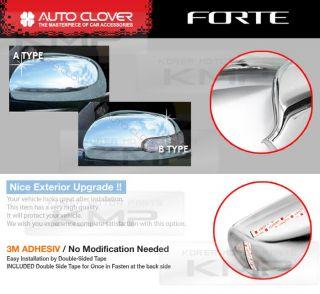 Chrome Side Mirror Cover Molding B614 B615 Fit Kia Cerato Forte Sedan 2010 2012