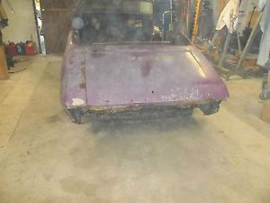 1968 69 70 71 72 Chevrolet Pontiac Convertible Parts Car Rough Rusty Smashed