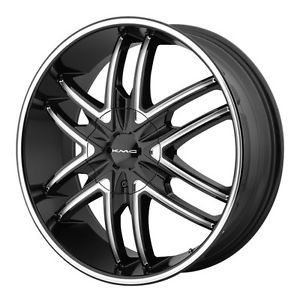 24 inch KMC Splinter KM678 Black Wheels Rims 6x5 5 Express Van Chevy K1500 Tahoe