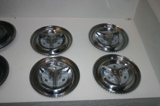 "1956 Oldsmobile Spinner Hubcaps 15"" x 8 Hot Rod Rat Rod Lead Sled"