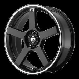 "17"" Black Wheels Rims Cobalt Honda Civic Fit Integra MR116 Motegi Racing 4 Lug"