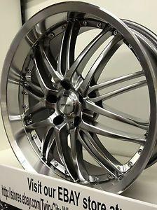 20 inch Hyper Silver Verde Kaos Wheels Rims Dodge Nitro Charger 20x8 5 20