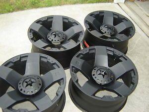 KMC XD Diesels 24x12 Wheels for 8 Lug Chevy GMC Hummer H1 H2 RAM 8x6 5 No Tires