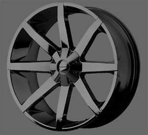4 KMC Slide KM651 20x8 5 Gloss Black Wheels 10mm Offset Special Low Price