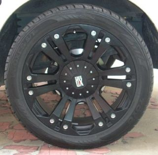 4 22x9 5 KMC Monster Wheels and Tyres Package Chevy Dodge RAM 2500 8 Stud