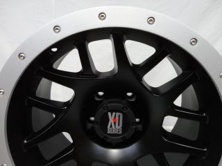 "18"" x 9"" XD KMC XD123 Bully 123 XD12389055738N Satin Black Wheels w Alum Ring"