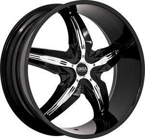 "18"" inch 4x100 4x4 5 Black Chrome Insert Wheels Rims 4 Lug Toyota Nissan Honda"