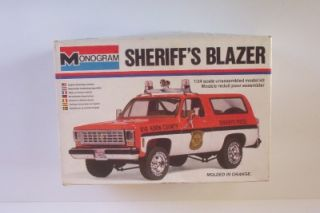 4x4 Chevy Sheriffs Blazer 2249 Monogram 1 24 Opened Truck Model Kit