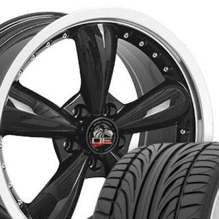 """20"""" Black Bullitt Bullet Wheels Falken Tires Rims Fit Mustang® GT 05 Up"""