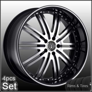 "20"" D1 Chrome Wheels and Tires Pkg for Lexus Impala Honda Audi Jaguar Rims"