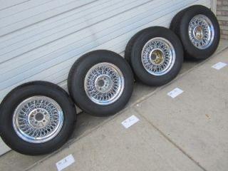 """C3 Corvette 15"""" inch Tru Spoke Truspoke Wire Wheels Center Caps Cap Spinners"""