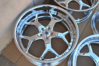 "22"" asanti AF164 Chrome Staggered Wheels Rims BMW 7 Series 745 750 5 Series"