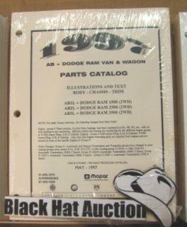 1997 Dodge RAM Van Wagon Parts Catalog Manual