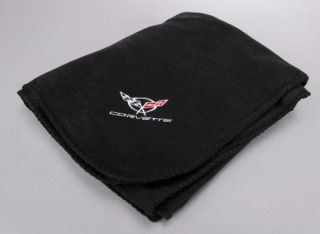 1997 2004 Corvette C5 Black Fleece Blanket New