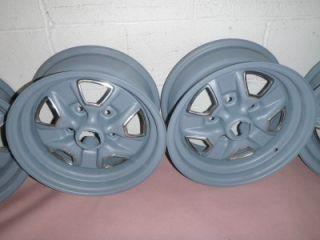 Oldsmobile Cutlass Supreme 14x6 Steel Super Stock Rally Wheels Set