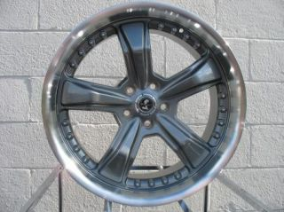 20x9 ET40 Anthracite American Racing Razor Wheels Rims 2005 2014 Mustang