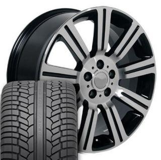 """22"""" Black Stormer Wheels Rims Tires Fit Range Land Rover HSE Sport LR3 LR4"""