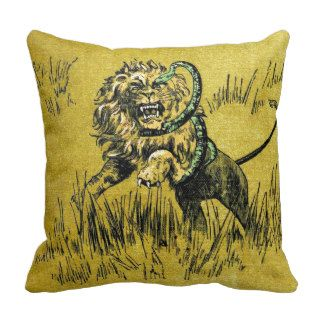 Lion Fighting Snake Pillows