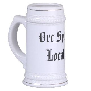 Orc Splitters Local 101 Beer Stein Mugs