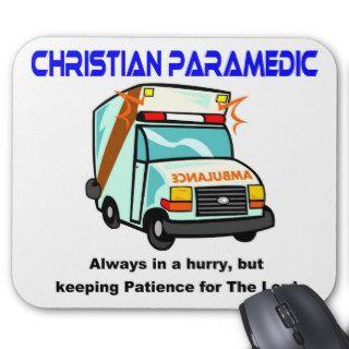 Christian Paramedic religious gift Mousepad