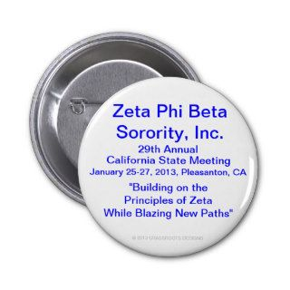 Zeta Phi Beta Sorority, Inc., 29th Annual Meeting Pinback Buttons