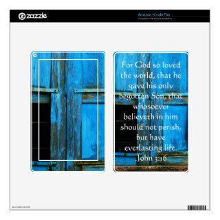 John 3:16 Christian Inspirational Quote Kindle Fire Skins