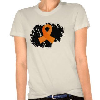 Leukemia Orange Ribbon With Scribble T shirt
