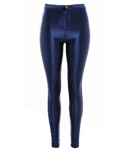 Atelier 61 Navy High Shine Disco Pants
