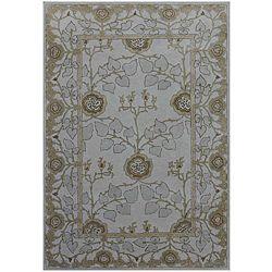Hand tufted Grey/ Blue Wool Rug (9'6 x 13'6) JRCPL 7x9   10x14 Rugs