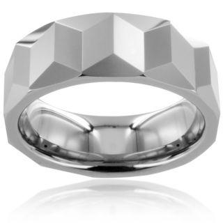 Tungsten Carbide Prism Design Ring Men's Rings