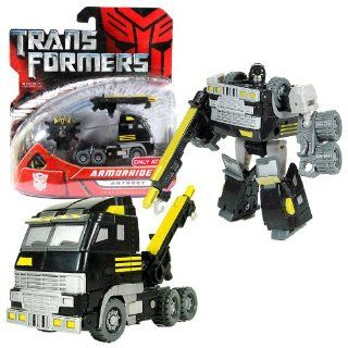 Hasbro Year 2007 Transformers Movie All Spark Power Series Scout Class 4 1/2 Inch Tall Robot Action Figure   Autobot ARMORHIDE with Hook Rifle and Cyber Key (Vehicle Mode: Tow Truck): Toys & Games