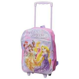Disney Princess   Mochila con ruedas para ni�as Disney Kids Rolling Backpacks