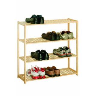 Premier Housewares 4 st�ckiges Schuhregal aus Holz mit Gitterdesign, 80 x 79 x 26 cm