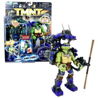 Playmates Year 2007 Teenage Mutant Ninja Turtles TMNT Movie Auto Attack Series 6 Inch Tall Action Figure Set   DONATELLO with Bo Staff and Dual Mode Attack Pack Toys & Games