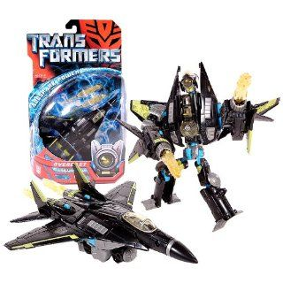 Hasbro Year 2007 Transformers Movie All Spark Power Series Deluxe Class 6 Inch Tall Robot Action Figure   Decepticon OVERCAST with Missile Launchers and 2 Missiles (Vehicle Mode Fighter Jet) Toys & Games
