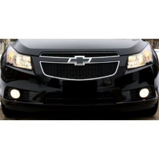 Chevy Cruze 2011 2013 2012 : Matte (Flat) Black Grille Bowtie Emblem Vinyl Cover Decal Wrap Sticker