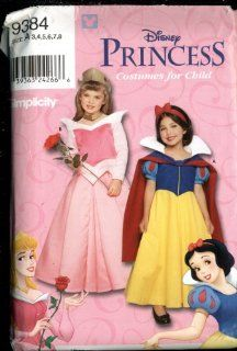 Simplicity Walt Disney Princess Costumes for Child   Snow White & Sleeping Beauty   Pattern Number 9384 Size a 3, 4, 5, 6, 7, 8 Arts, Crafts & Sewing